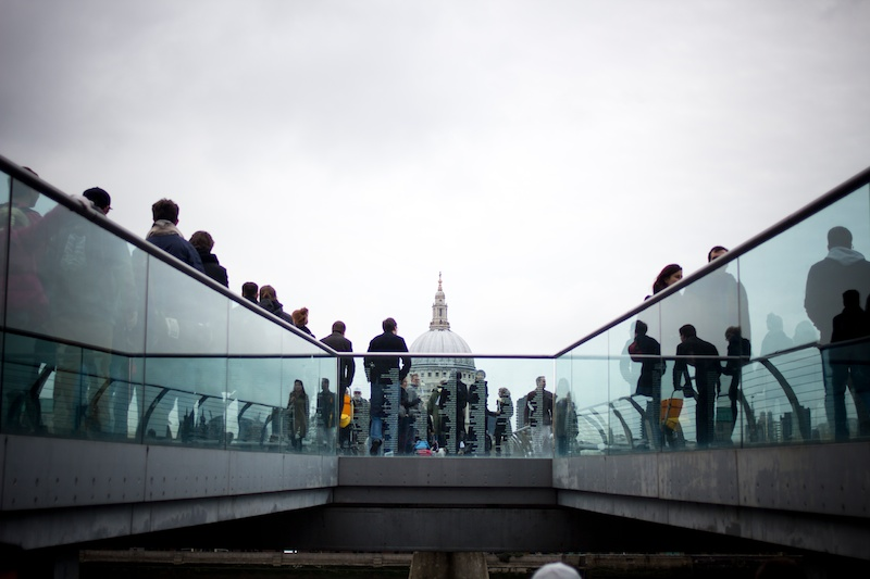Tate Modern, Millenium bridge, the shard  London