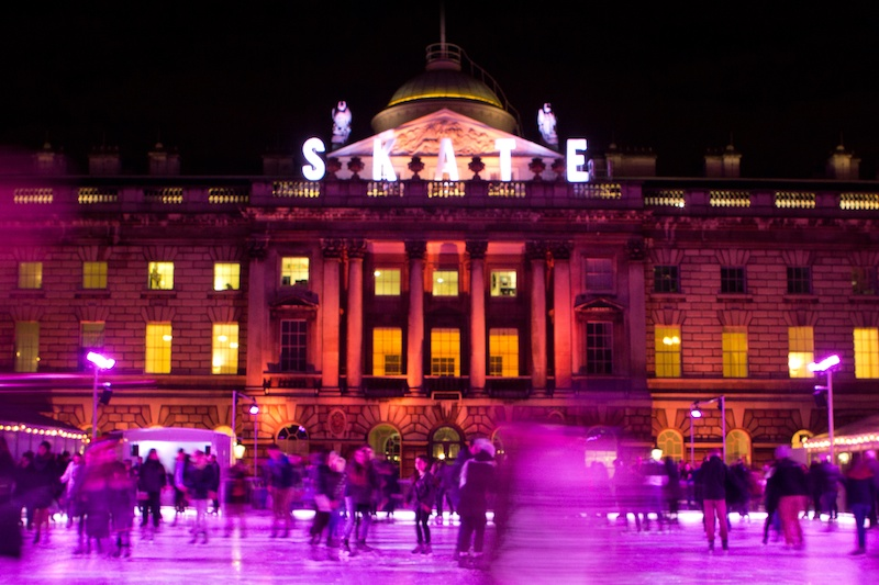 Ice skating rink at the Somerset House