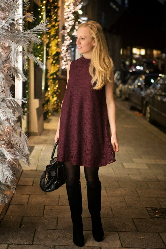The Golden Bun, outfit inspiration, christmas look inspiration, Purple  swing dress, glitter - Blog - The Golden Bun