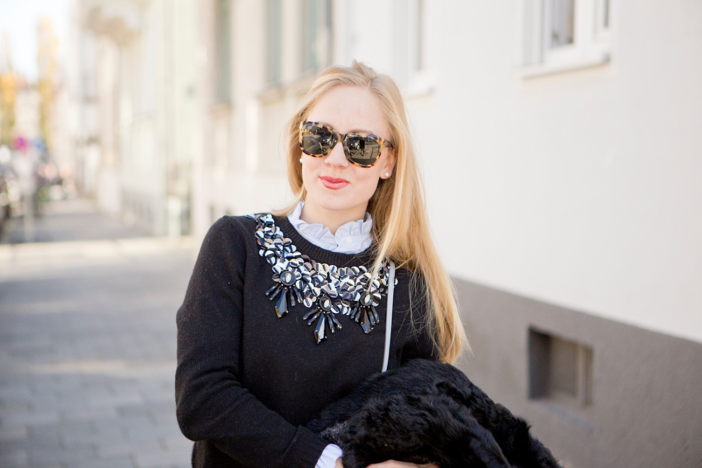 Claudie Pierlot blouse, havanna spotted sunglasses, how to wear a blouse, college look, München Modeblog, German Fashion Blog, Fashionblogger, new trends