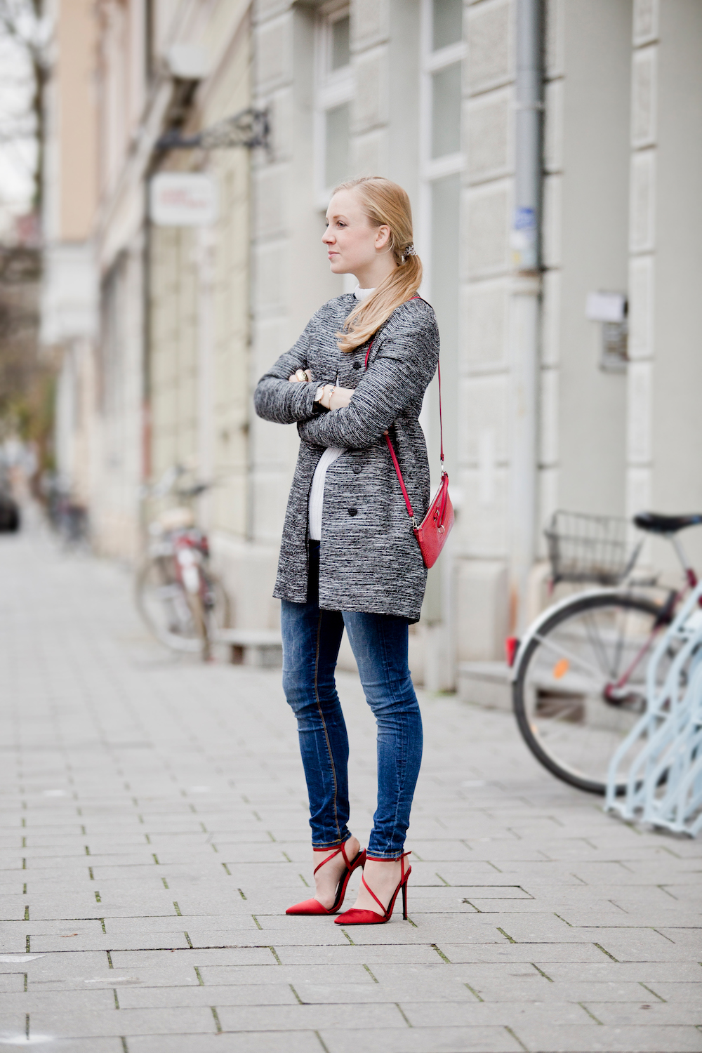 More & More Coat Red pumps| München Modeblog, German Fashion Blog, Fashionblogger, new trends