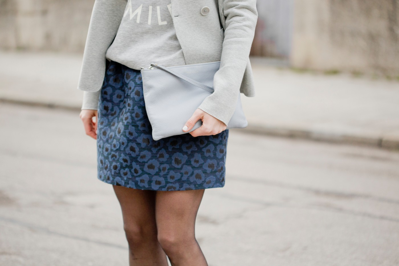 Sweater and skirt look