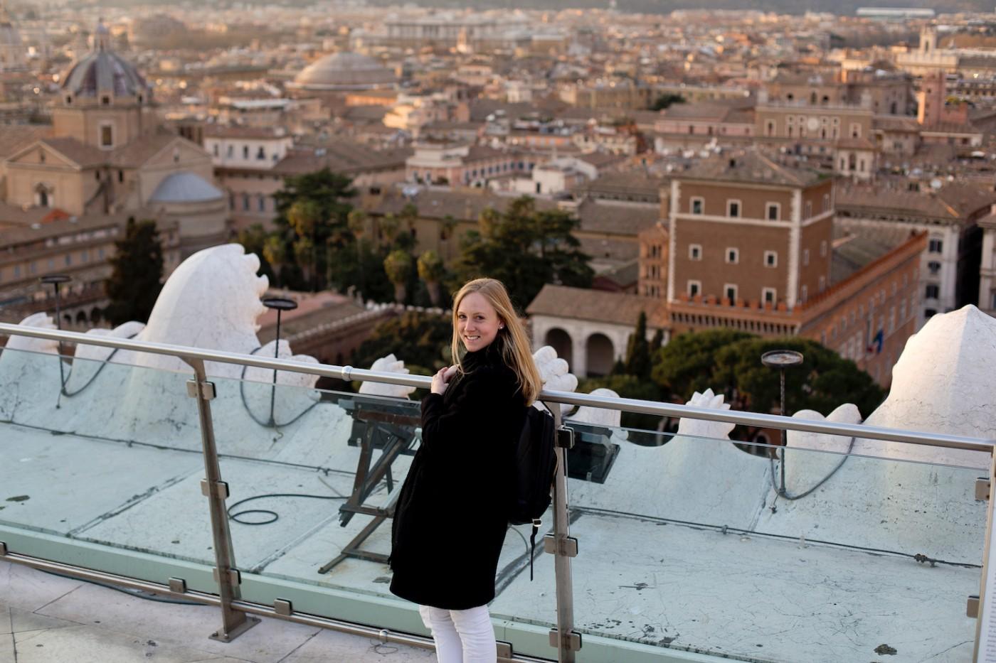 Panorama terrace Altare della Patria. 4 days in Rome, 4 Tage in Rom