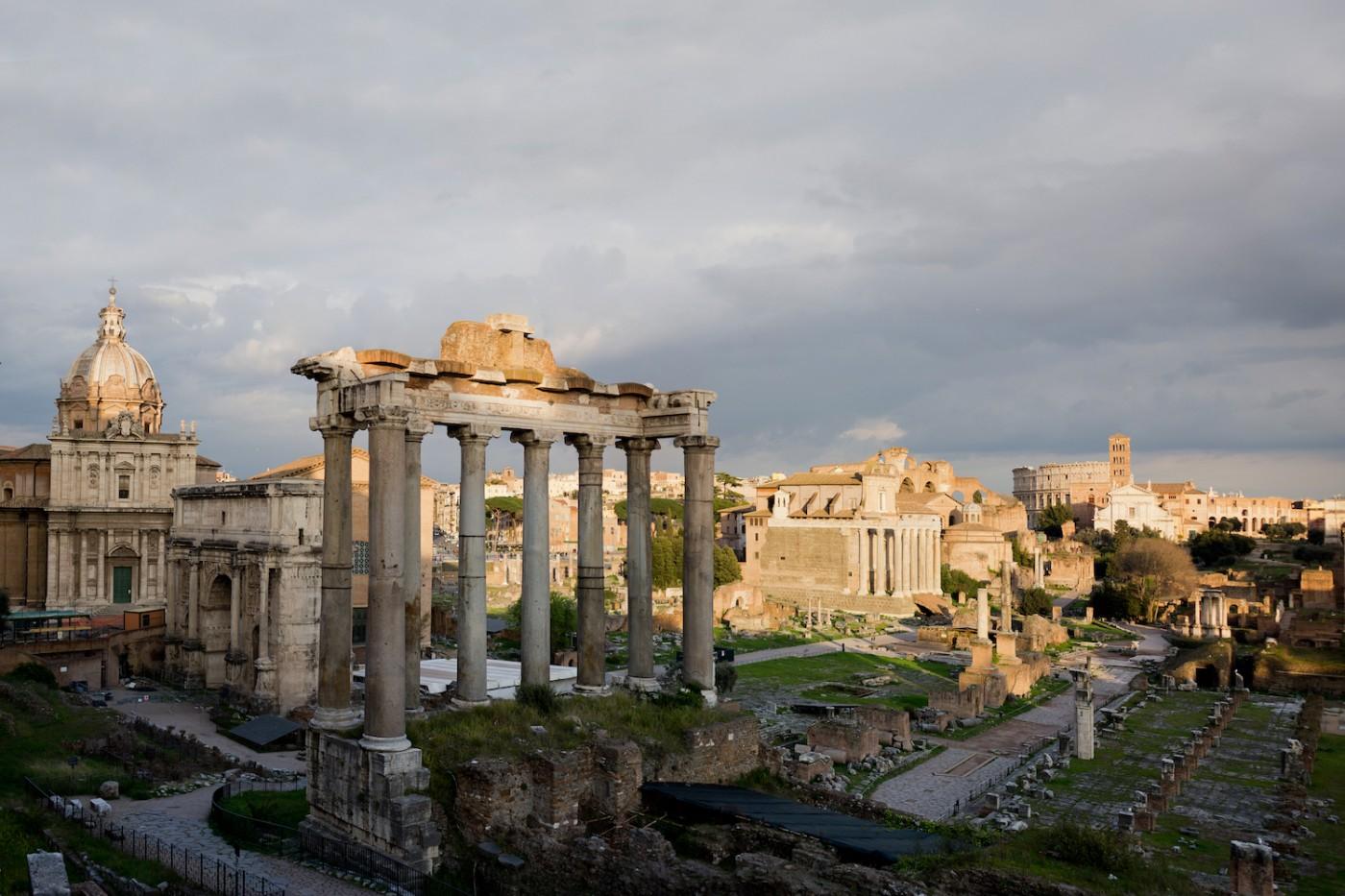 Panorama terrace Altare della Patria 4 days in Rome, 4 Tage in Rom