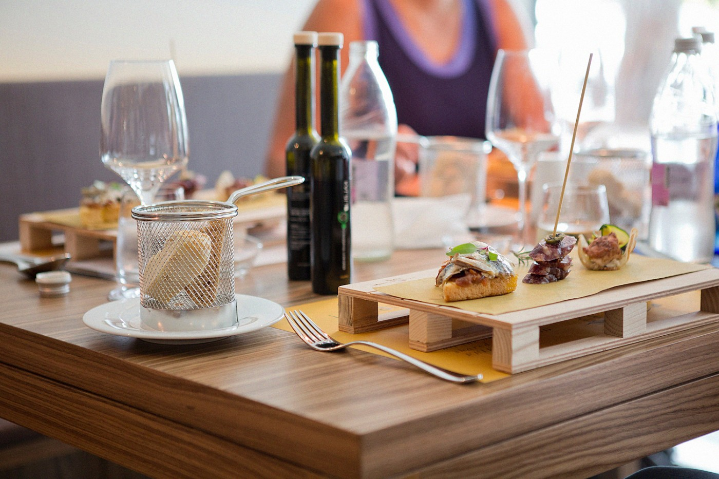 Istrian Tapas Hotel Slowenija   eating in portoroz piran Fritolin Pri Cantini gourmet food traditional slovenian food
