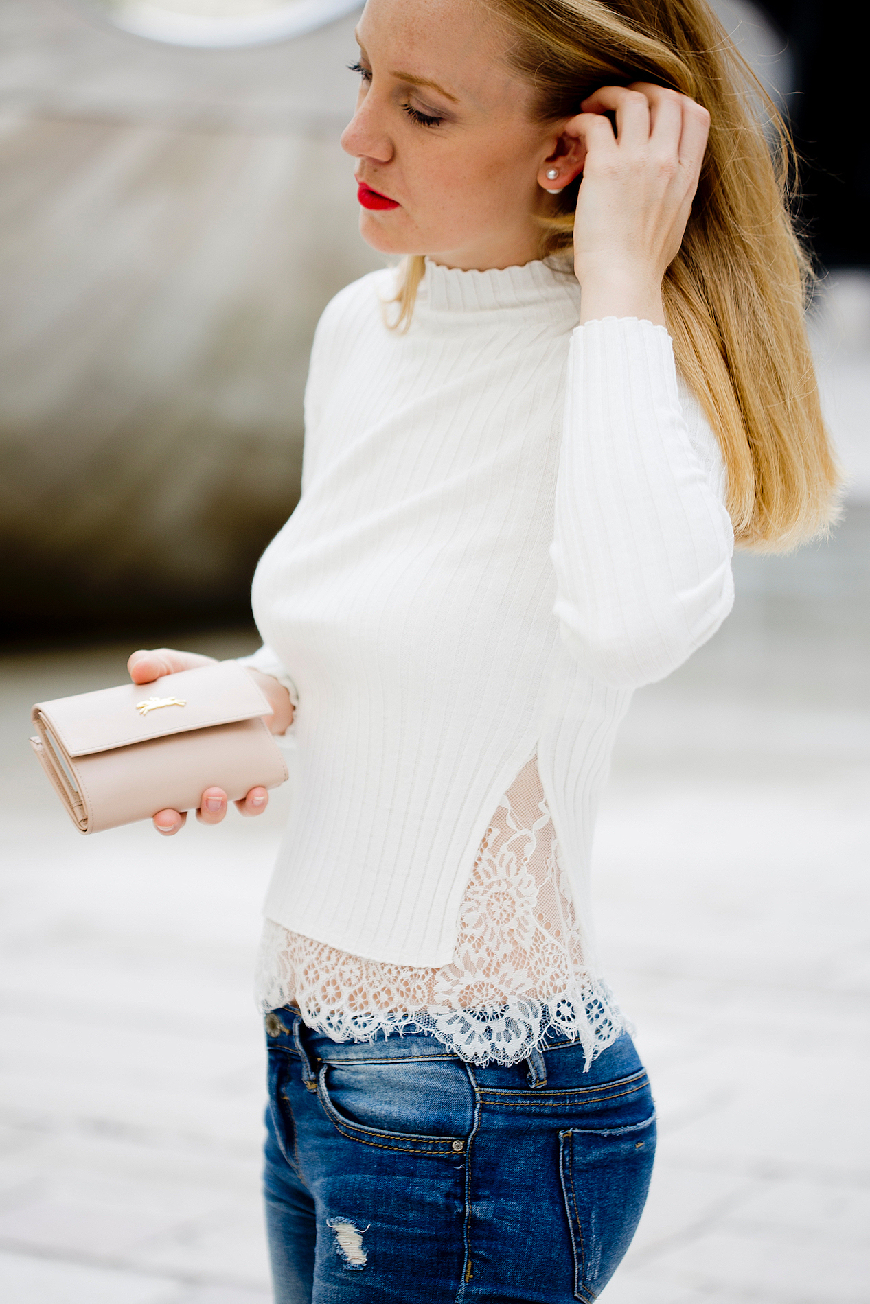 french connection nichola sweater lace pullover