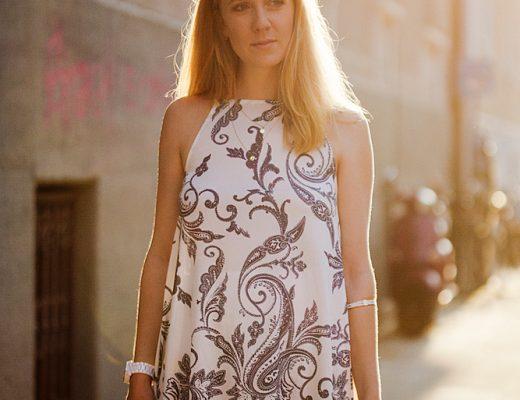 paisley dress asos _ elli jewelry _ elli jewellery _ shooting sunset
