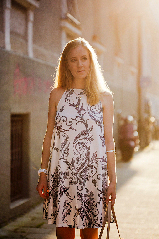 paisley dress asos _ elli jewelry _ elli jewellery _ shooting sunset