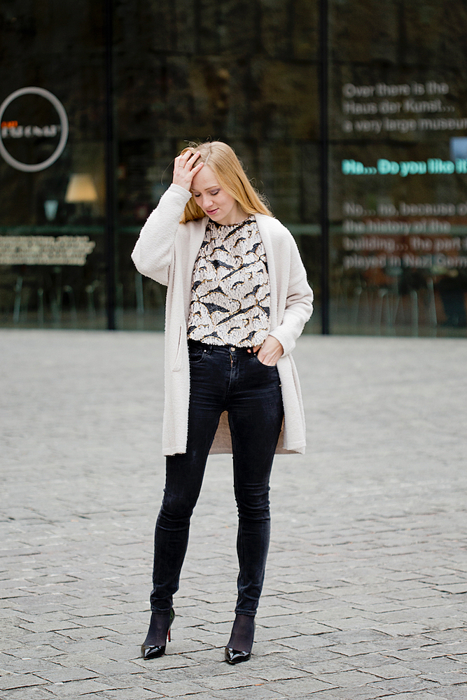 how to style a sequin top two ways