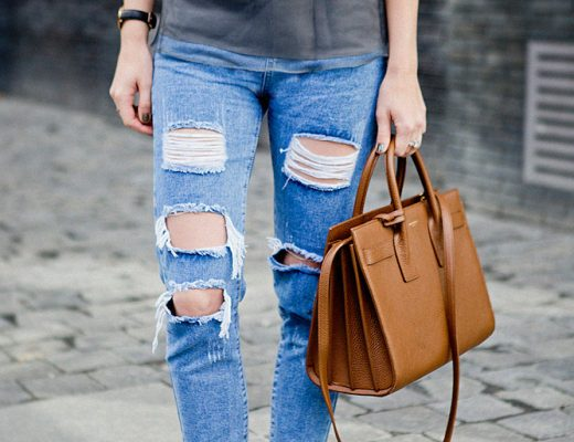 München blogger, German fashion blogger, saint laurent sac du jour ripped jeans