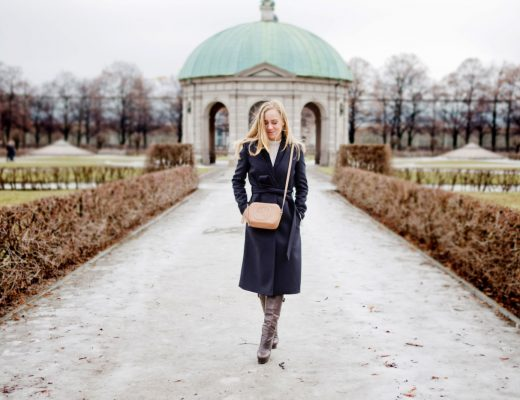 ivy oak mantel, ivy oak coat, gucci soho bag, dolce gabbana boots, münchen residenz, münchen hofgarten