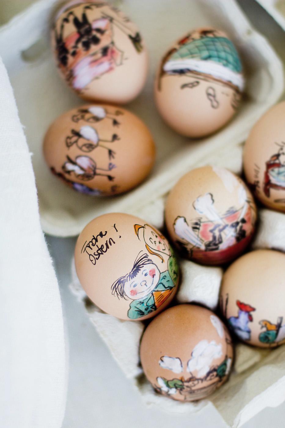 www.thegoldenbun - oster eier bemalen - easter egg painting ideas