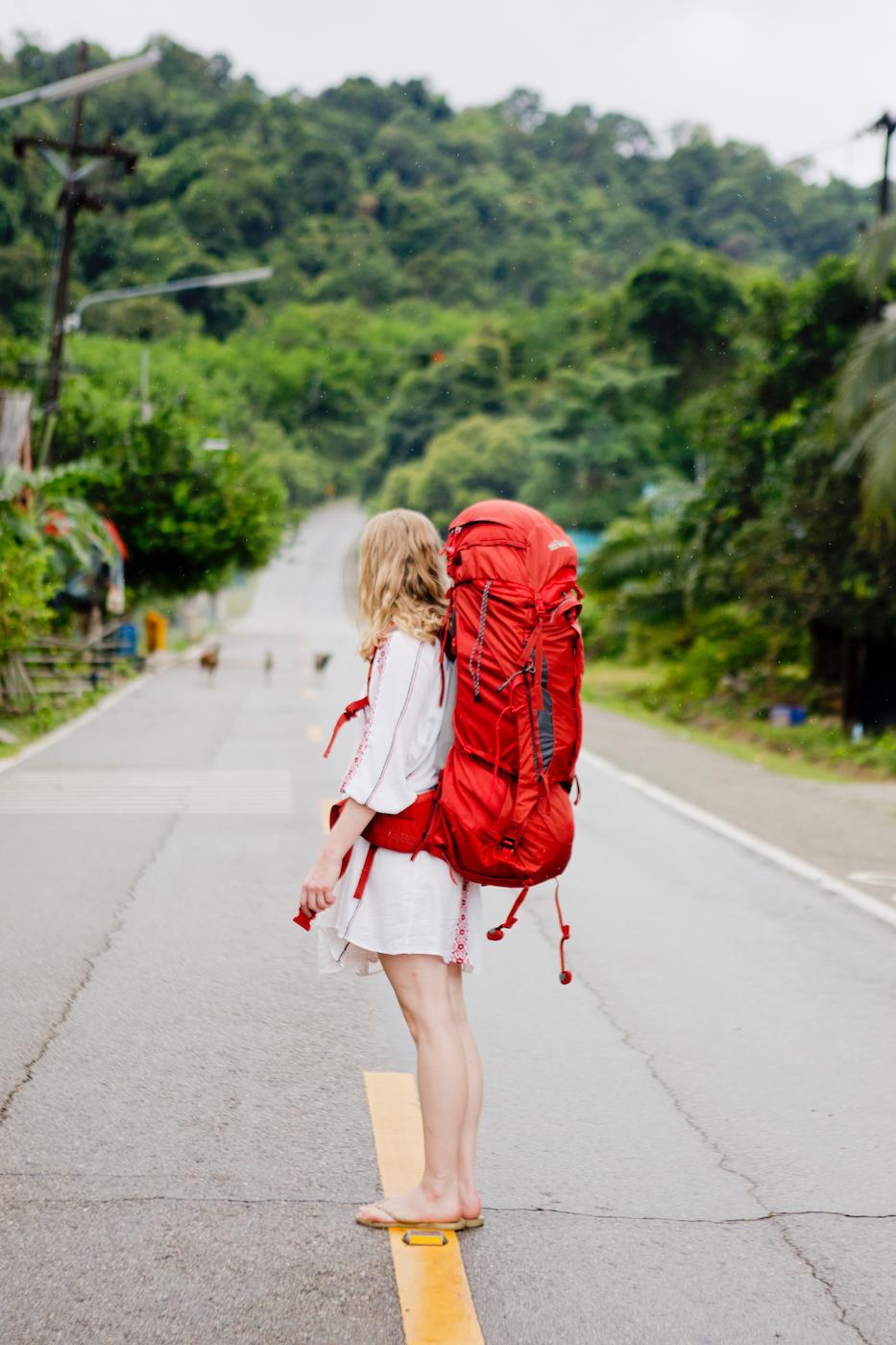 www.thegoldenbun.com |backpacking in thailand, tatonka yukon backpack travel