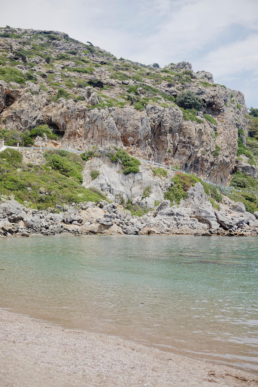 thegoldenbun.com | Ladiko beach guide Rhodos, sand beach rhodos