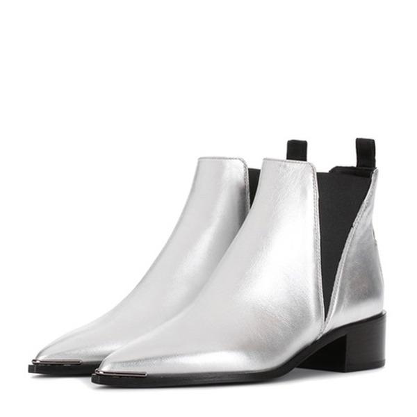 Acne Studios - Ankle Boots Jensen aus Metallic-Leder