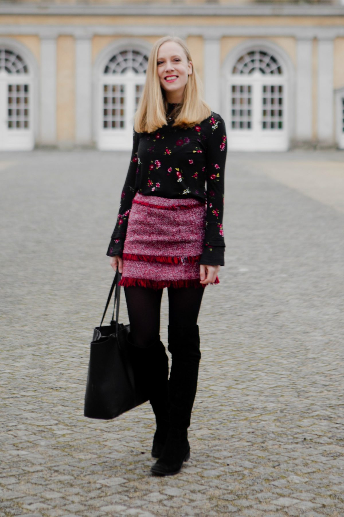 winter look with skirt style inspiration