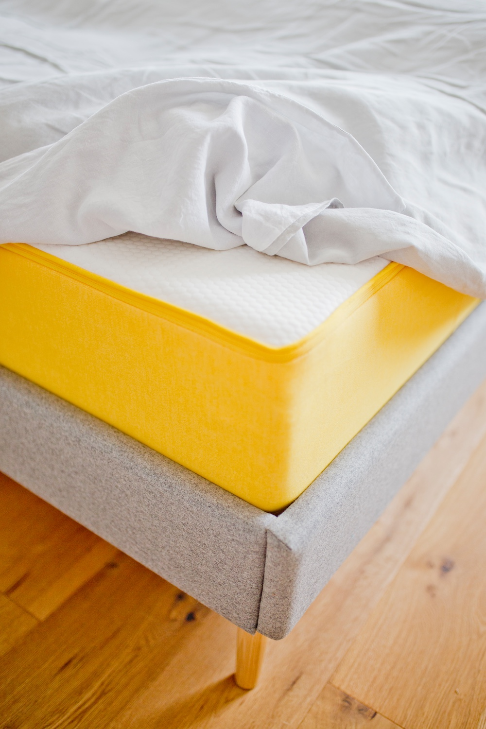 Scandinavian bed frame _ dieneueeve _ eve sleep _ eve mattress review _ eve matress 2