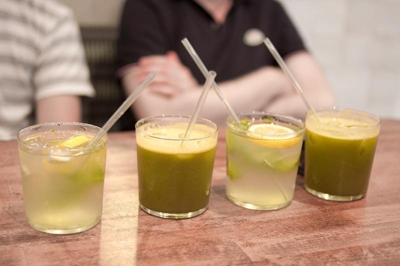 Juice break at Café Pinson