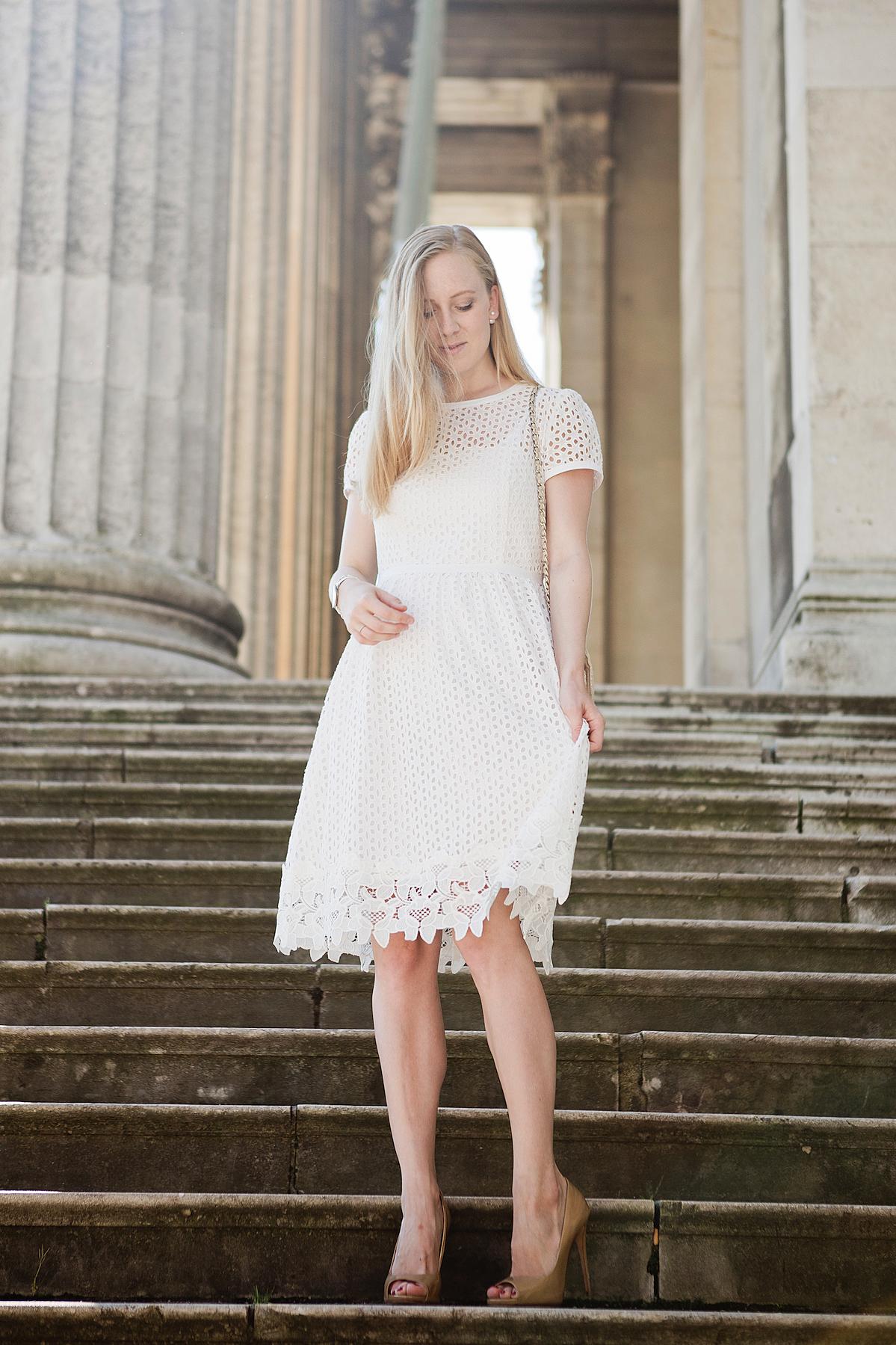 weißes Spitzenkleid hallhuber giuseppe zanotti high heels19 - The
