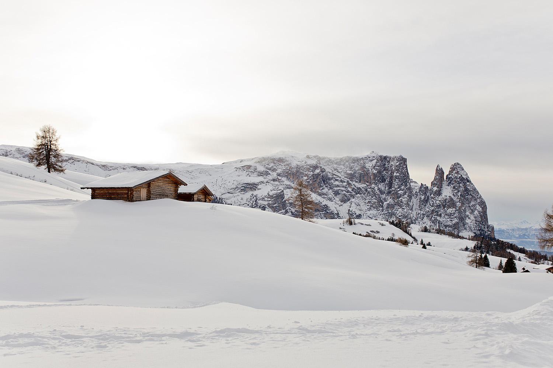 <em>Winterferien in Südtirol </em><br>Genusswanderung auf der Seiseralm zur Gostner Schwaige