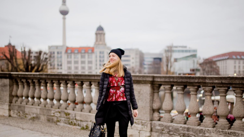 English) Them red velvet boots Duvetica Jacket