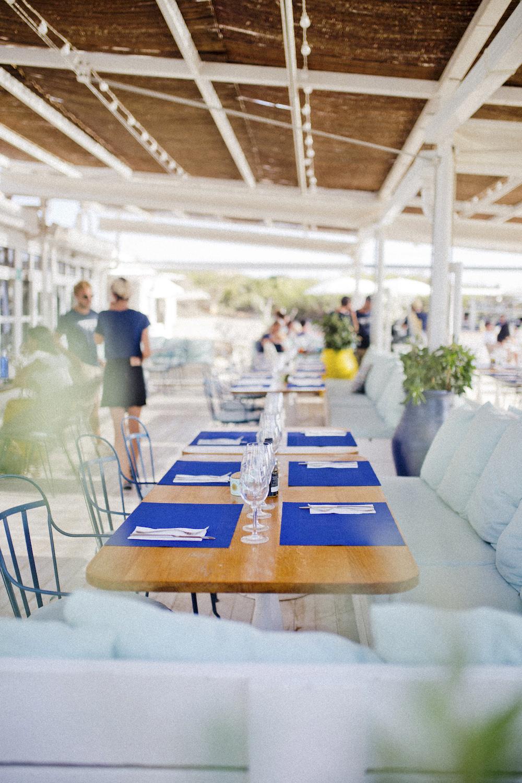 ibiza beachclub - girls trip to Ibiza - 3 beach restaurants