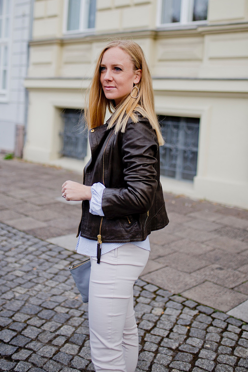 Business Look Leather Jacket More and More Pumps Peperosa