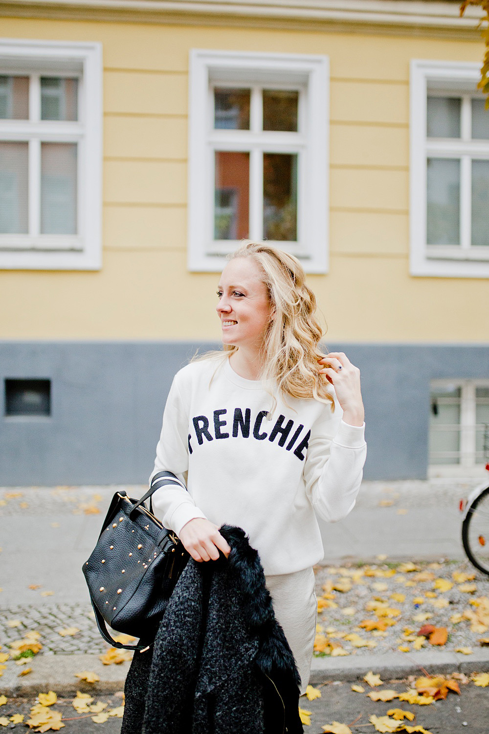 frenchie sweater _ style a skirt with pullover
