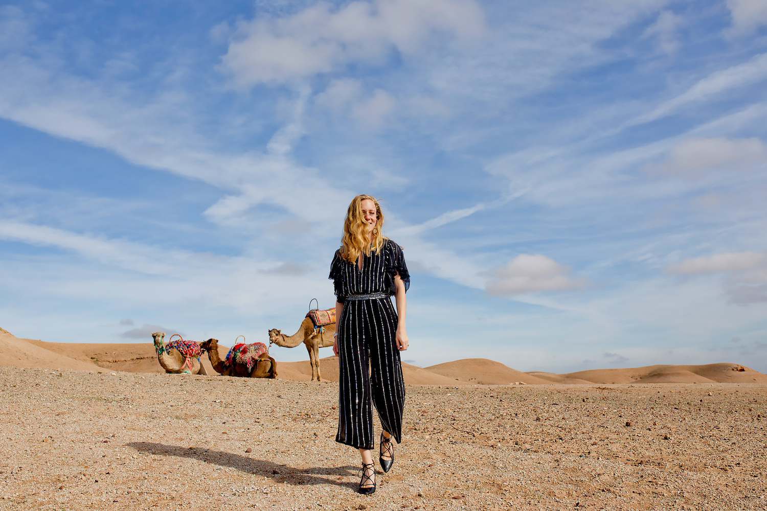 A sequined jumpsuit & the dromedaries