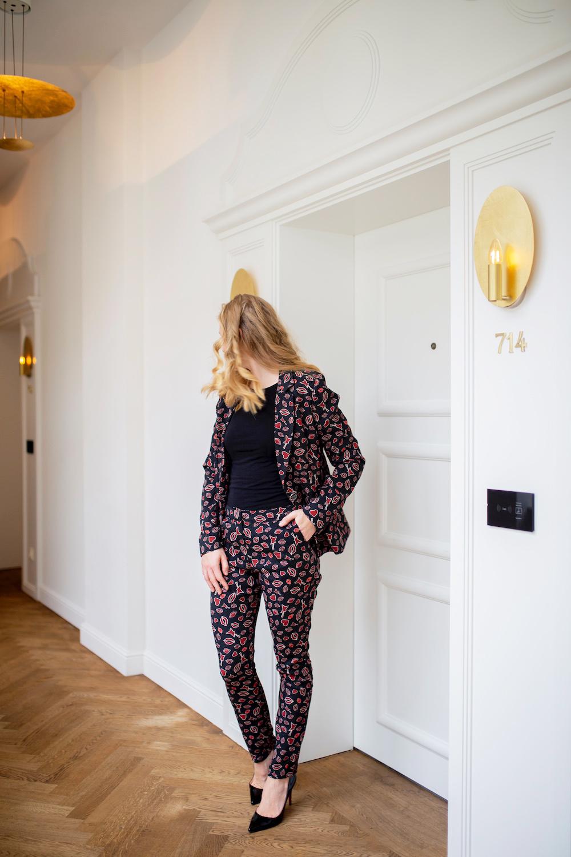 studio italy printed blazer pants breuninger