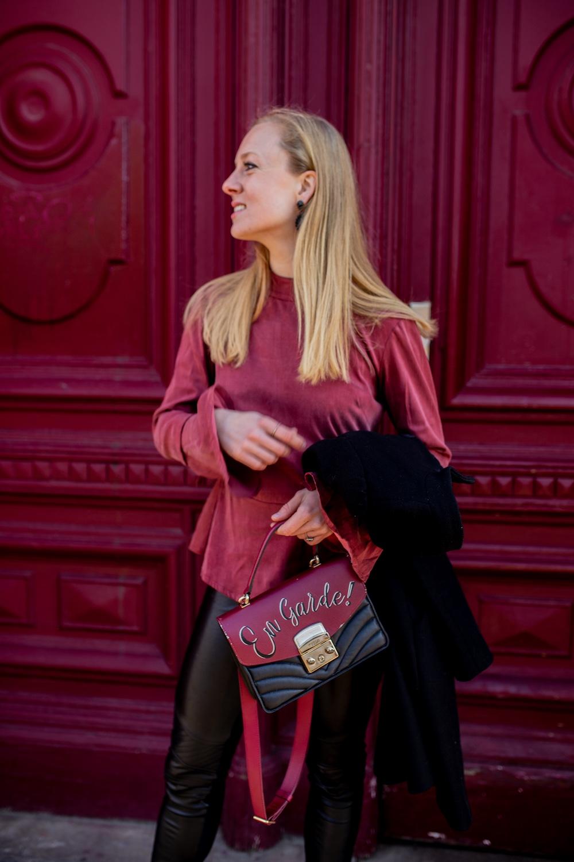 Furla en garde bag - Studio Italy clothing - Marc Cain leather leggings1