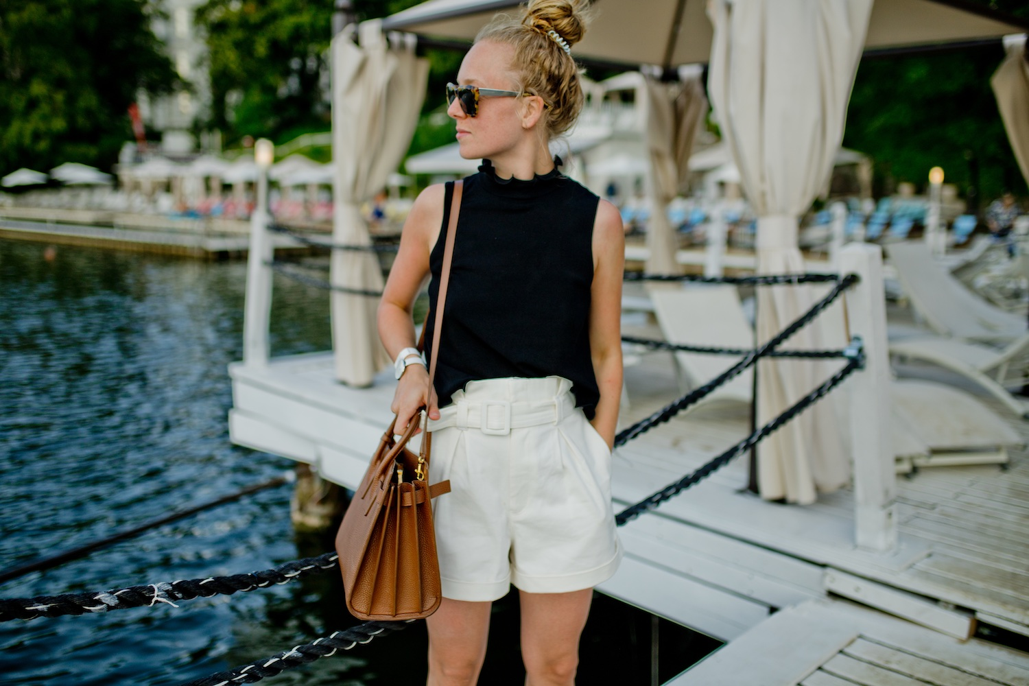 Keeping it simple – the white bermudas