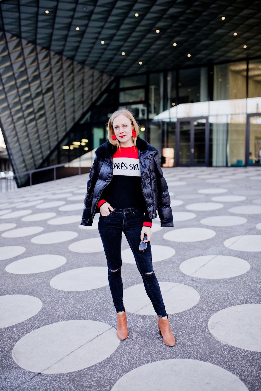 Apres Ski sweater Bershka Massimo Dutti winter jacket | www.thegoldenbun.com