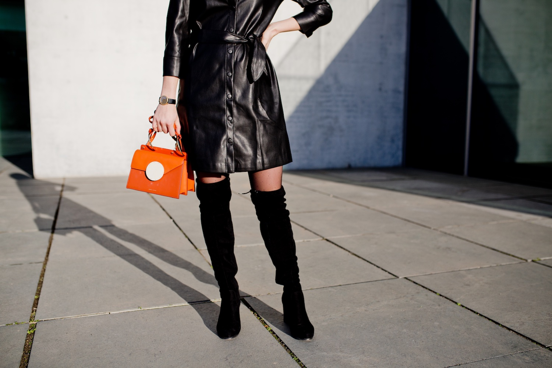Mango PU leather dress | www.thegoldenbun.com
